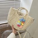 Fashion straw big shoulder messenger bag wholesale NHLH341026