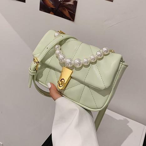 neue koreanische trendige Mode Perlen einfarbige quadratische Tasche NHLH341034's discount tags