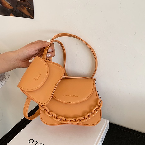 koreanische Mode Retro Macaron einfarbige Umhängetasche NHLH341029's discount tags