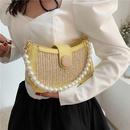 neue trendige Mode Messenger Perle Stroh Schulter quadratische Tasche NHLH341053