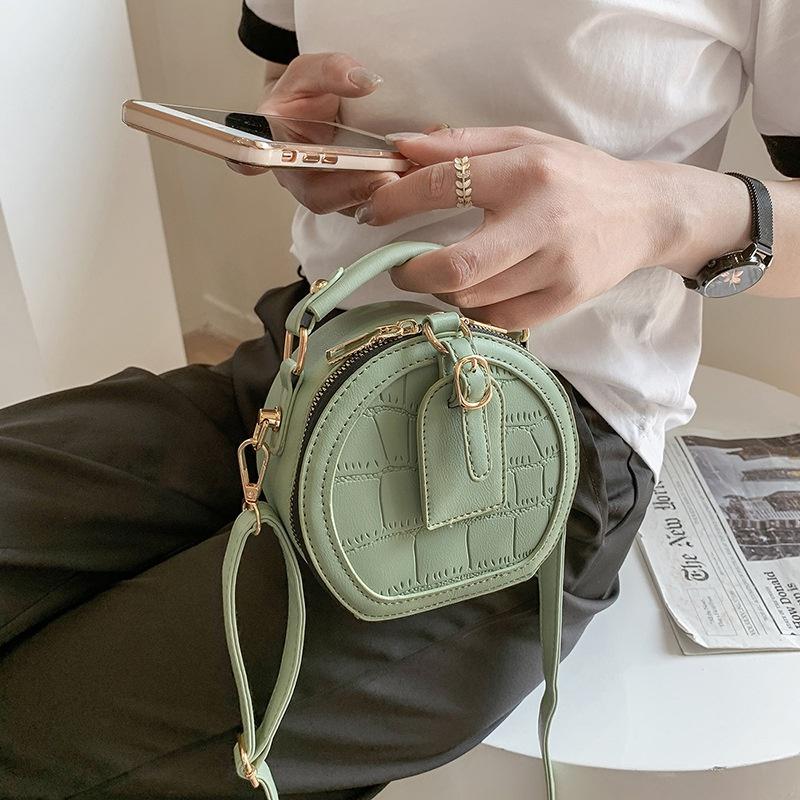 new korean fashion style chain messenger round bag NHLH341059
