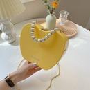 Fashion pearl portable chainshoulder messenger acrylic bag wholesale NHLH341065