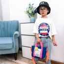 Korean childrens canvas cartoon cute printing messenger bag NHTG341076