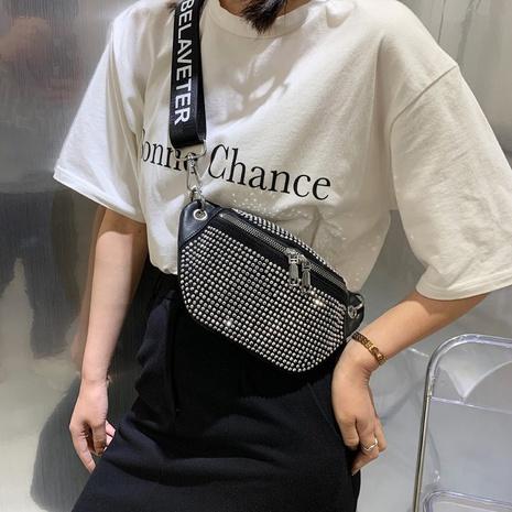 Moda bolso de cintura de mensajero de hombro de diamante completo NHTG341086's discount tags