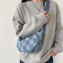 Fashion plaid shoulder messenger canvas bag wholesale NHTG341097