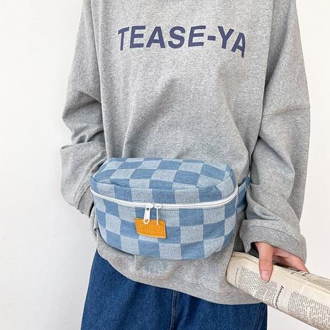Bolsa de cintura multiusos de lona a cuadros de moda al por mayor NHTG341098's discount tags