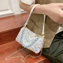 Fashion sequined chain shoulder messenger portable bag wholesale NHTG341105