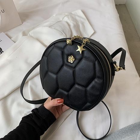Petit sac rond à bandoulière en fil brodé à la mode NHTG341120's discount tags