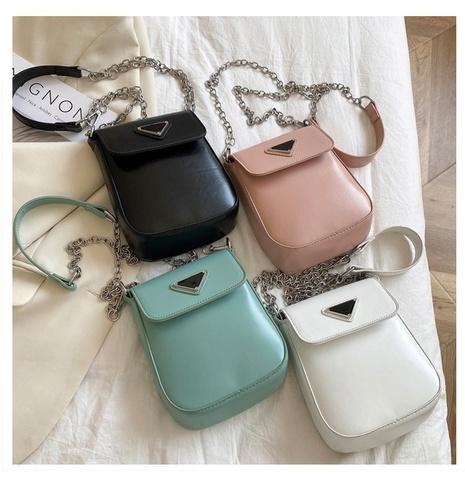 Petit sac carré portable de messager d'épaule de couleur unie de mode gros NHTG341125's discount tags