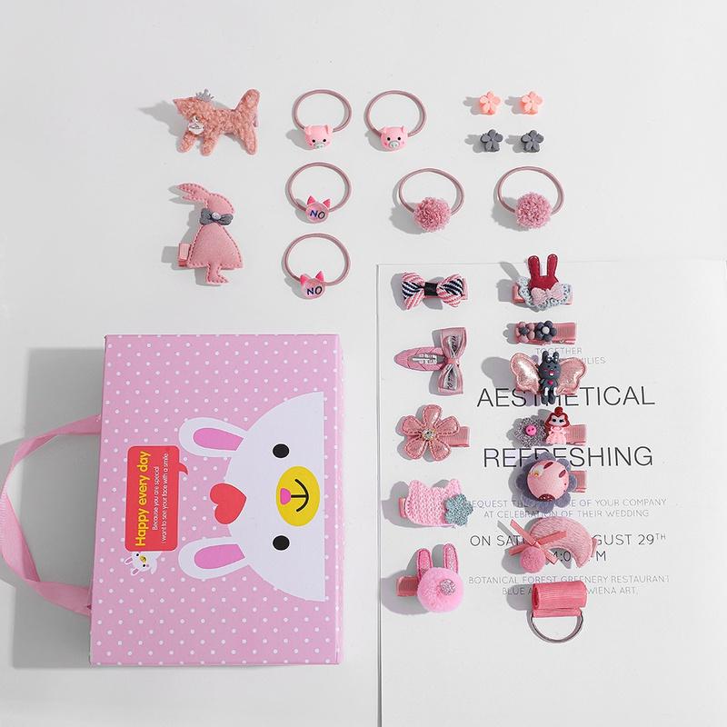 Cartoon children hairpin gift box set wholesale NHLL341174