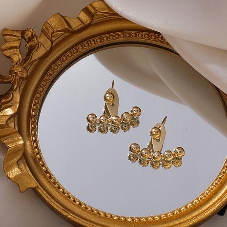 Boucles d'oreilles en cuivre boule ronde géométrique NHMS341185's discount tags