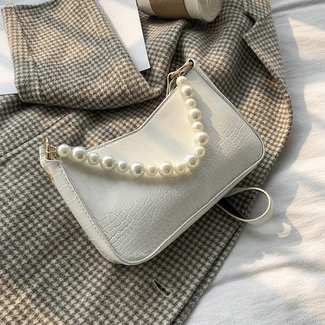 Mode Steinmuster Perlenkette Schulter Umhängetasche Großhandel NHXC341213's discount tags