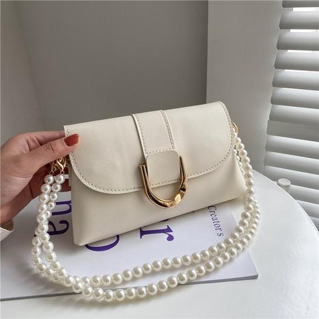 Bolso de la cintura del mensajero del hombro de la cadena de la perla del color sólido de la moda al por mayor NHXC341241's discount tags