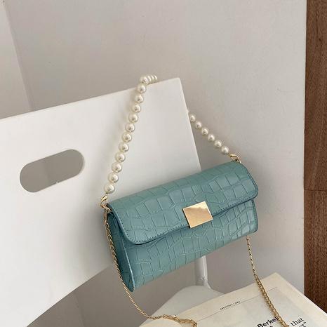 Mode Perlenkette Schulter Farbverlauf Farbe Schulter Messenger kleine quadratische Tasche NHXC341250's discount tags