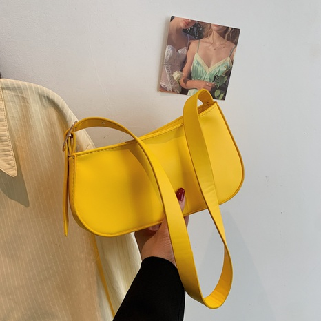 Mode einfarbig Schulter Messenger tragbare Tasche Großhandel NHXC341264's discount tags