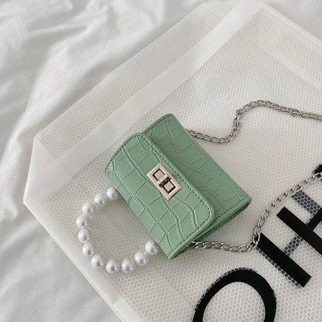 Sac à bandoulière à motif de pierre de mode petit sac carré en gros NHXC341265's discount tags