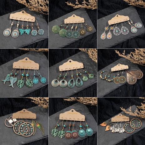 ensemble de boucles d'oreilles ethniques à pompons creux de style rétro NHAKJ341274's discount tags