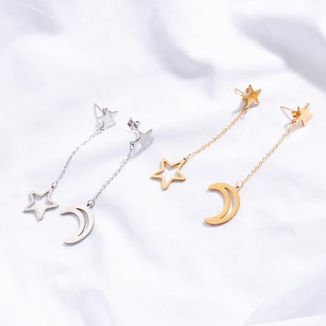 boucles d'oreilles goutte d'eau à pampilles et étoiles de lune NHAKJ341281's discount tags
