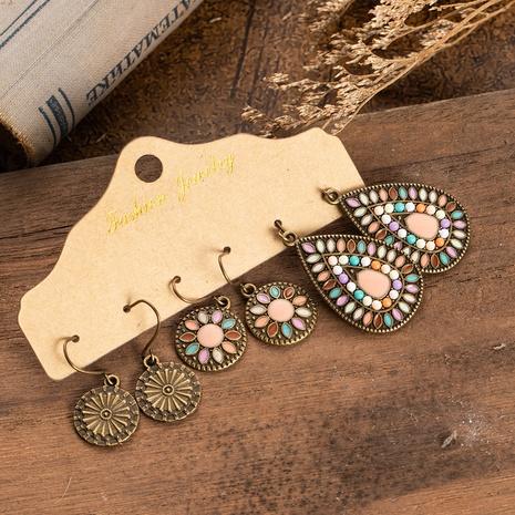 Ensemble de boucles d'oreilles à fleurs de style ethnique NHAKJ341286's discount tags