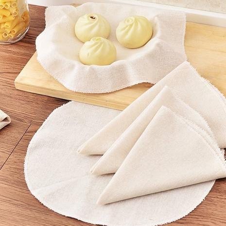 Tissu rond en coton antiadhésif en bambou cuit à la vapeur en gros NHNU341301's discount tags