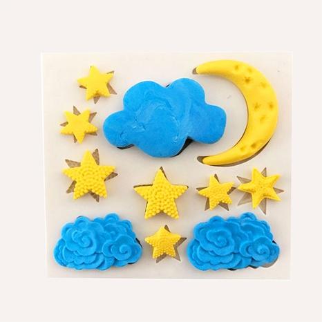 Moule en silicone nuage de lune et d'étoile au chocolat NHNU341299's discount tags