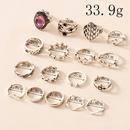 retro style fashion new simple purple diamond ring set NHOT341292