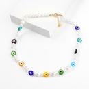 Fashion geometric resin imitation pearl necklace wholesale NHJE341356