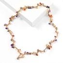 Fashion geometric acrylic cotton woven necklace wholesale NHJE341360