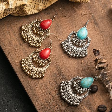 Boucles d'oreilles rondes de longues cloches NHAKJ341371's discount tags