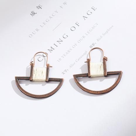 nouvelles boucles d'oreilles à boucle de style rétro géométrique NHAKJ341370's discount tags