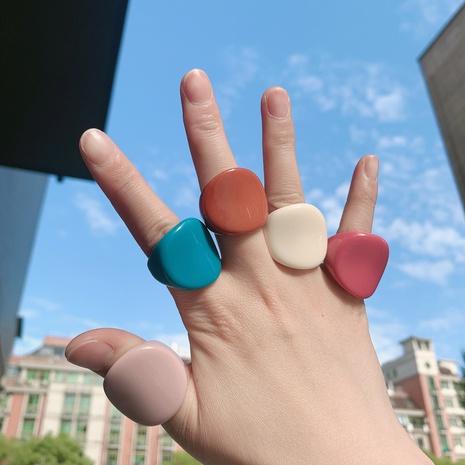 Mode geometrischen einfarbigen Acrylring Großhandel NHJQ341420's discount tags