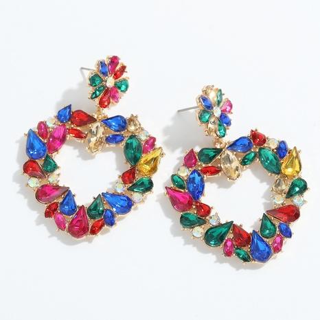 Boucles d'oreilles d'amour en diamant en alliage exagéré à la mode NHJQ341425's discount tags