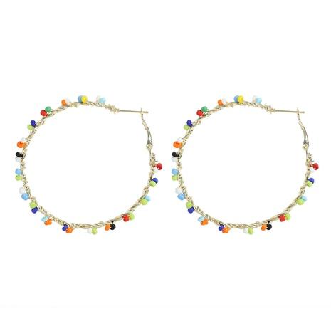 Bohemian ethnic style geometric handmade rice bead earrings NHJQ341426's discount tags