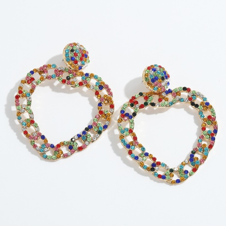 boucles d'oreilles d'amour colorées exagérées à la mode NHJQ341429's discount tags