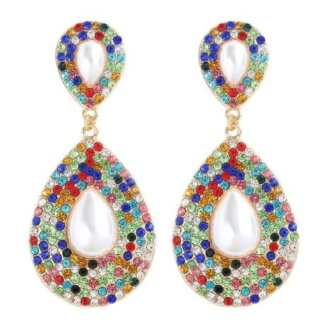 boucles d'oreilles à la mode en diamant simple NHJQ341433's discount tags