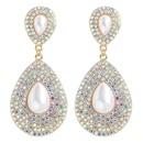 fashion simple diamond drop earrings  NHJQ341433