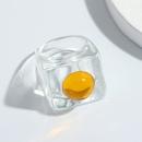 fashion transparent white inlaid resin acrylic ring wholesale NHJQ341432