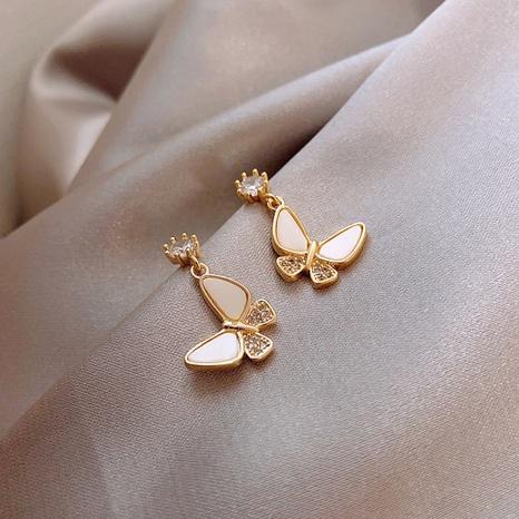 Mode Schmetterling Strass Legierung Ohrringe Großhandel NHWB341460's discount tags