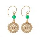 Fashion geometric pearl rhinestone hook circle earrings wholesale NHWB341461