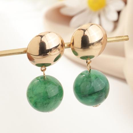 boucles d'oreilles de boule de cercle acrylique de mode de style simple NHNZ341512's discount tags