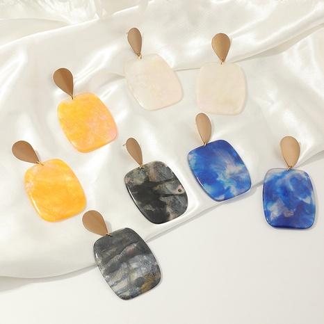 boucles d'oreilles en résine teinte par cravate géométrique de mode en gros NHNZ341526's discount tags