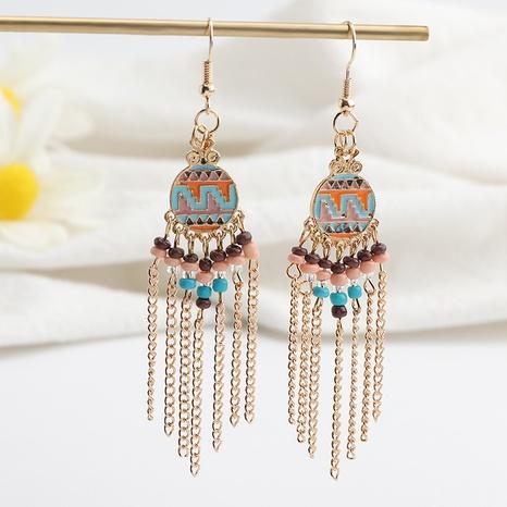 boucles d'oreilles longues pompon perles bohème en gros NHNZ341527's discount tags
