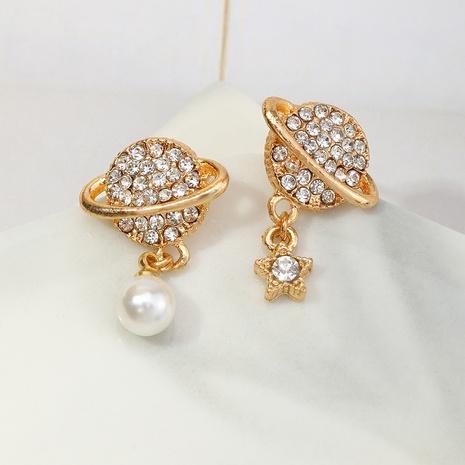 Boucles d'oreilles en perles de planète étoile micro-incrustées de mode en gros NHNZ341531's discount tags