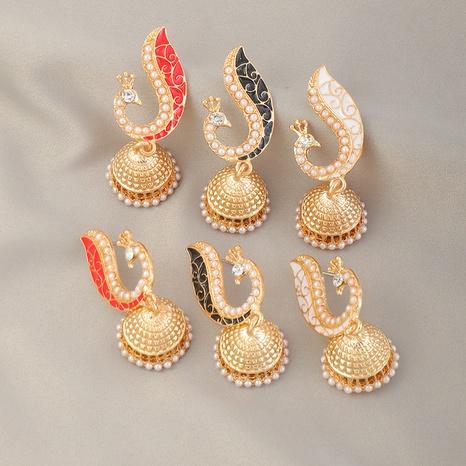 boucles d'oreilles en alliage ethnique cloche de paon NHNZ341536's discount tags