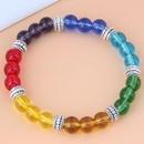 Korean fashion classic simple metal glass beads bracelet NHSC341555