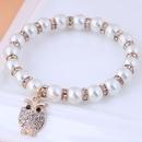 Korean Fashion alloy Pendant Pearl Owl bracelet NHSC341548