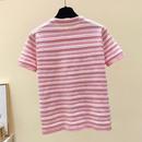 new summer ice silk knitted striped shortsleeved Tshirt NHZN341542