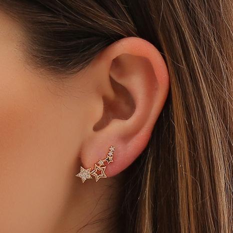 Clip d'oreille étoile zircon coréen en gros NHDP341540's discount tags