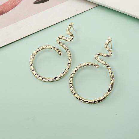 Boucles d'oreilles simples en forme de serpent torsadé en métal NHQIY341566's discount tags