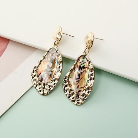 Boucles d'oreilles irrégulières en métal incrusté transparent à la mode NHQIY341567's discount tags
